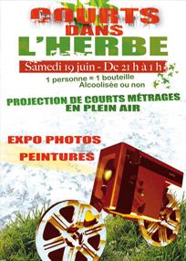 Affiche du festival Courts dans l'Herbe 2004