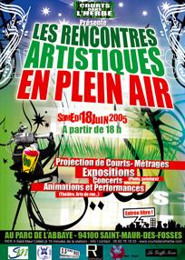 L'affiche du festival Courts dans l'Herbe 2005