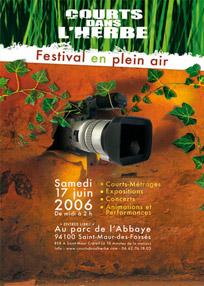 Affiche du festival Courts dans l'Herbe 2006