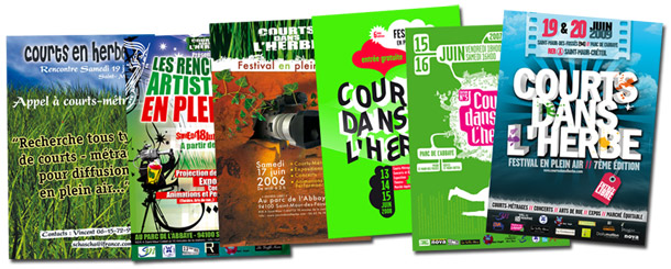 Affiches Courts dans l'Herbe
