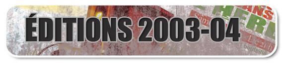 Tous les courts projet�s lors des festivals Courts dans l'Herbe 2003 et 20049